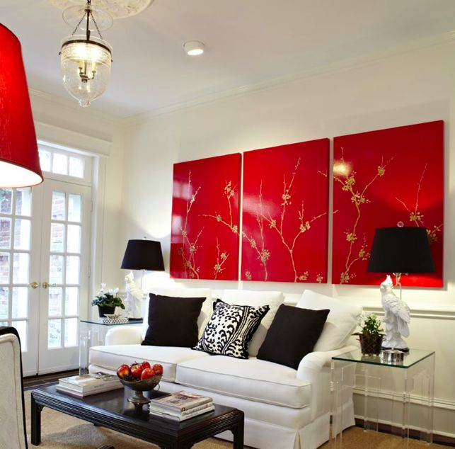 Red And Black Living Room Decorating Ideas Gorgeous Inspiration Design