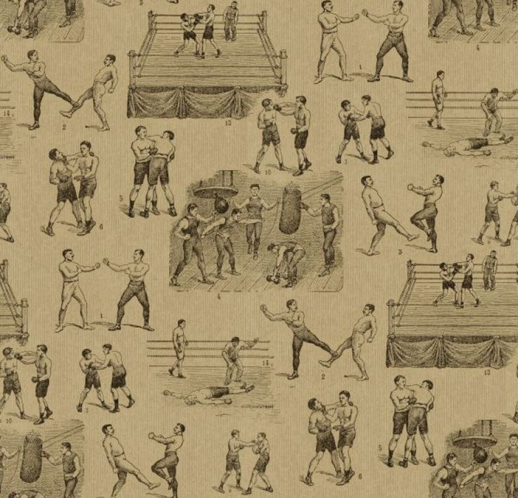 Queensbury+(LW21/1)+-+Linwood+Wallpapers+-+A+digital+wallpaper+design+featuring+various+hand+drawn+motifs+of++Victorian+style+boxing+scenes.+Shown+here+in+cord+brown+and+black.+Please+request+a+sample+for+a+true+colour+match.+Pattern+repeat+is+100cm.+Paste-the-wall+product.+