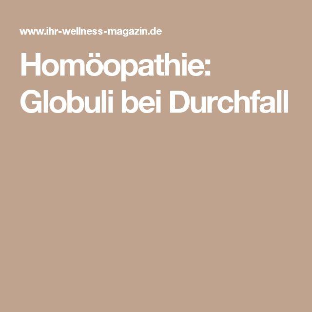 Homöopathie: Globuli bei Durchfall
