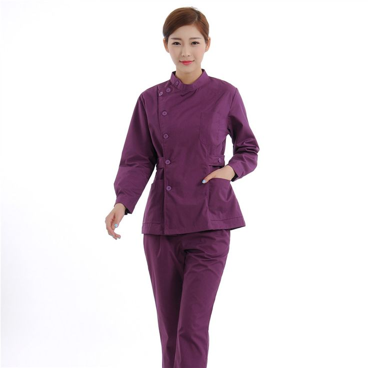 New Women Medical Scrub Sets Nurse Hospital Uniforms Dental Clinic Beauty Salon Long Sleeve Medical Workwear Slim Fit  1946
