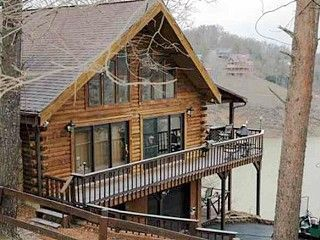 Attirant Want A Log House/cabin SO Bad! (Serenity View Luxury Lakefront Log Home On Douglas  Lake In Sevierville, TN, Available For Vacation Lodging)