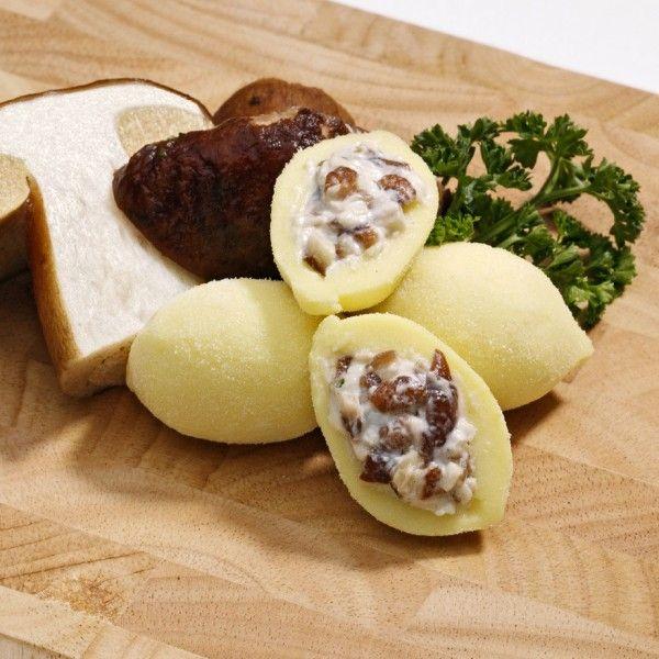 Ricetta: Gnocchi Patarò ripieni di Formaggio e Funghi con ragù di cinghiale e spinaci #ricetta #gnocchipataro #gnocchi