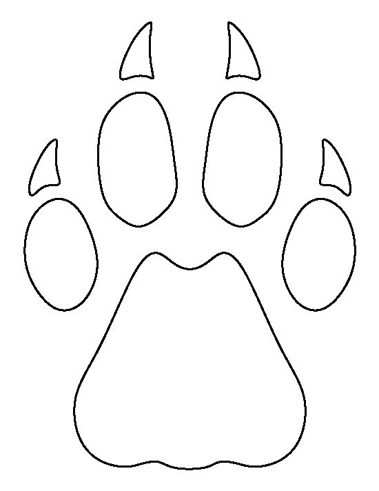 cheetah paw print pattern  use the printable outline for
