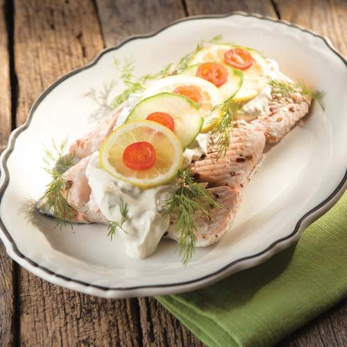 Poached Salmon with Dill Sauce   Farm Flavor