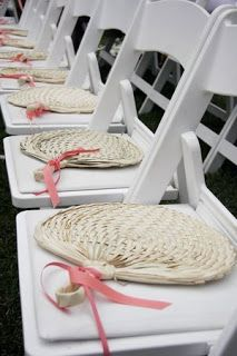 Set of 10 Mini Buri Raffia Natural Favor FANS - Small Wedding Fan Favors - Beach