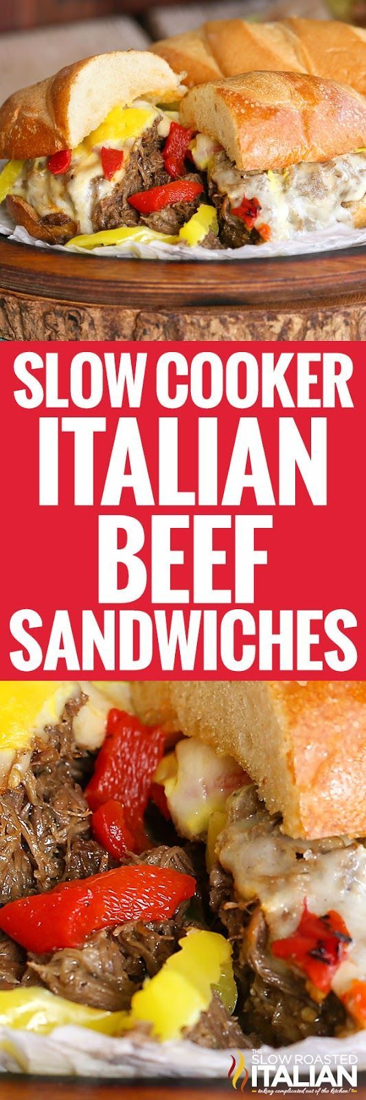 Slow Cooker Italian Beef Sandwiches (With Video)