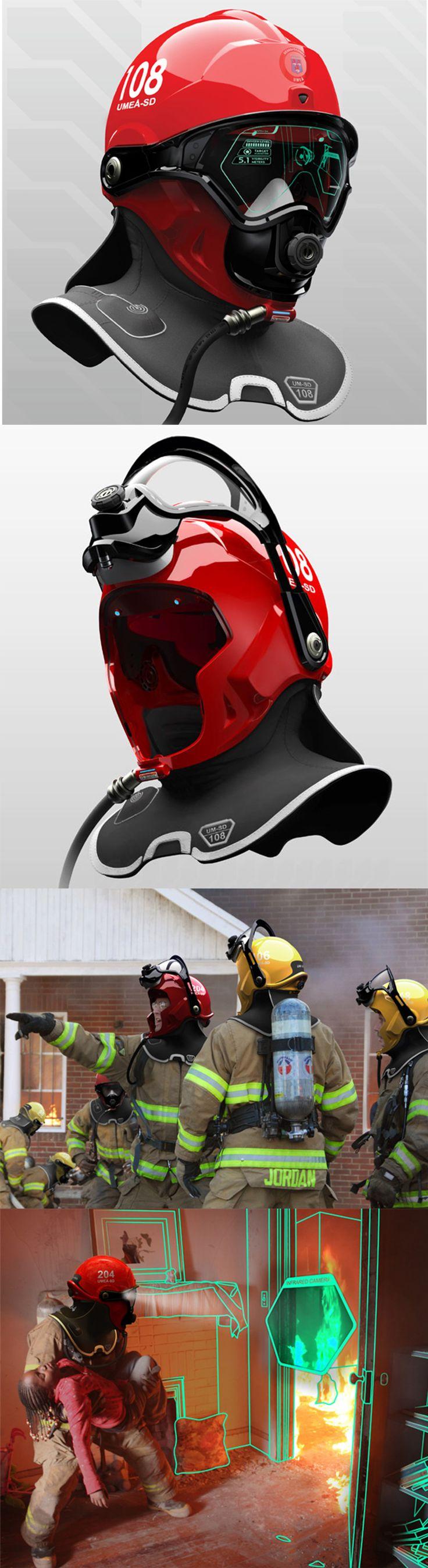 Adoro il design e la tecnologia usati per il miglioramento della vita. C-Thru: Helmet Enables Firefighters To See Through Smoke