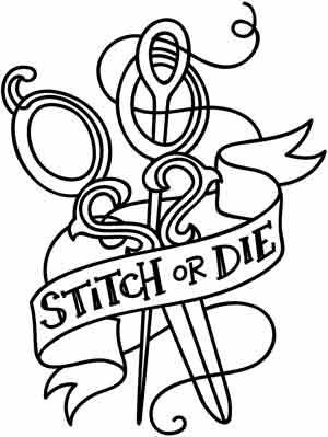 Stitch or Die | Urban Threads: Unique and Awesome Embroidery Designs $1