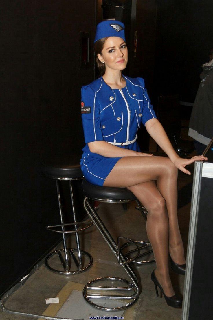 фото стюардесс в мини юбках