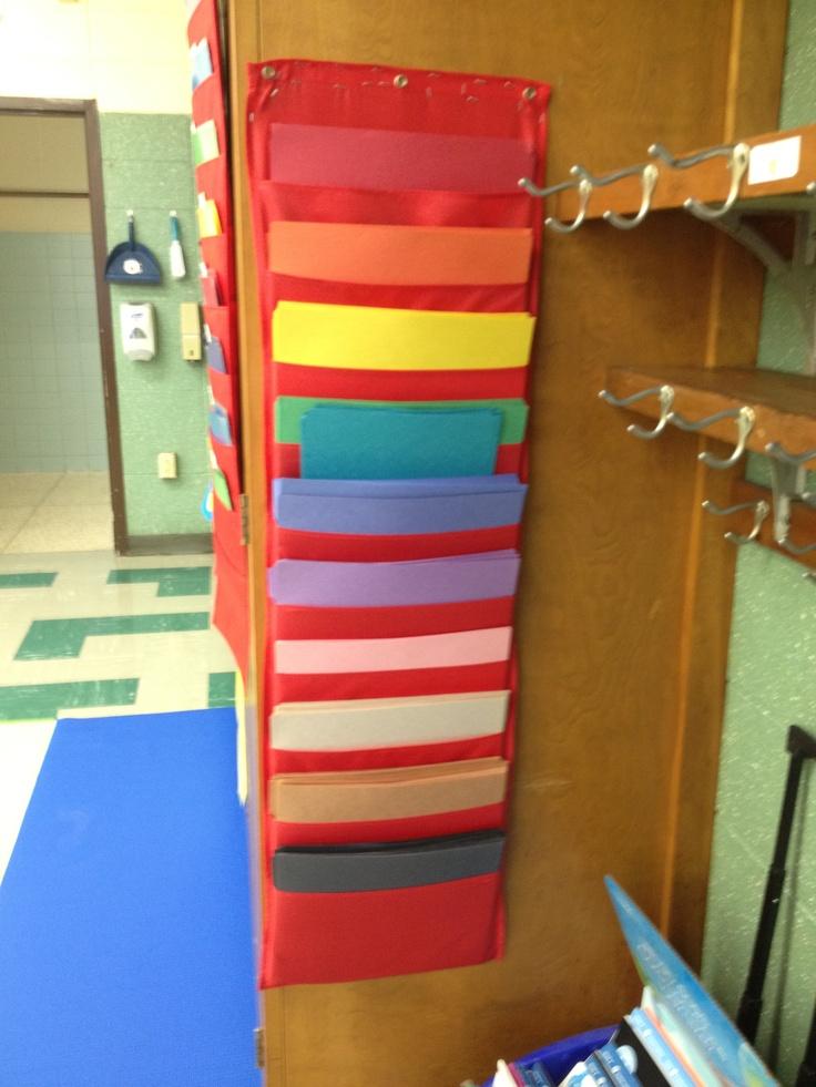 Construction Paper Organizer Classroom Pinterest