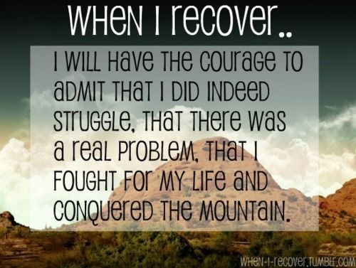 Quotes About Ed Recovery When I #Recover...