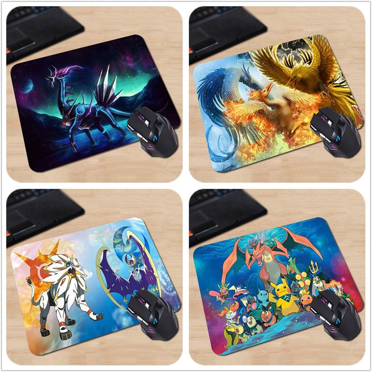 Famous Japan Cartoon Pokemon Legendary Personalized Mouse Pad  Laptop PC Computer Rectangle Silicone Durable Gaming Mouse Pad
