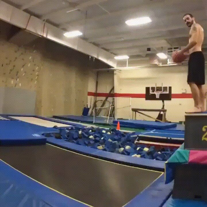 Trampoline basketball....wow!!!