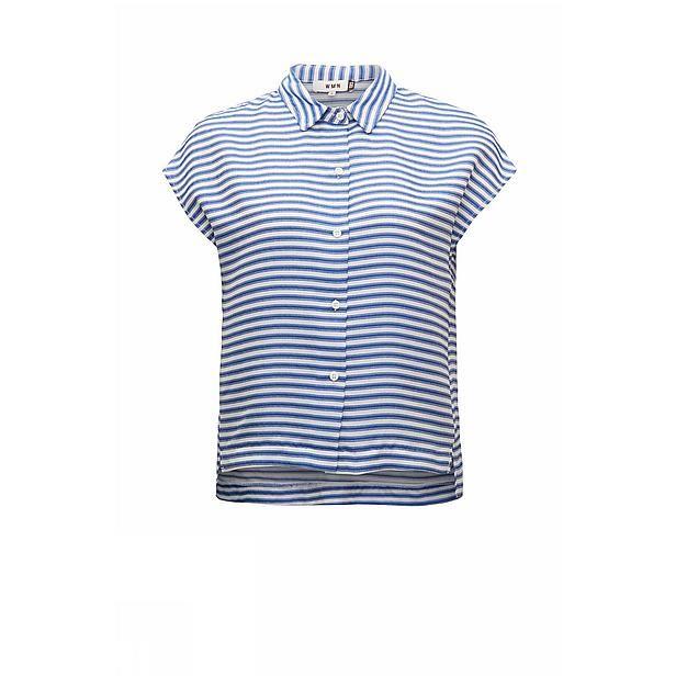 #zomer #CKS #dames #blouse #streepjes #blauw #wit