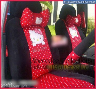 Hello Kitty Car Seat Cover And Accessories
