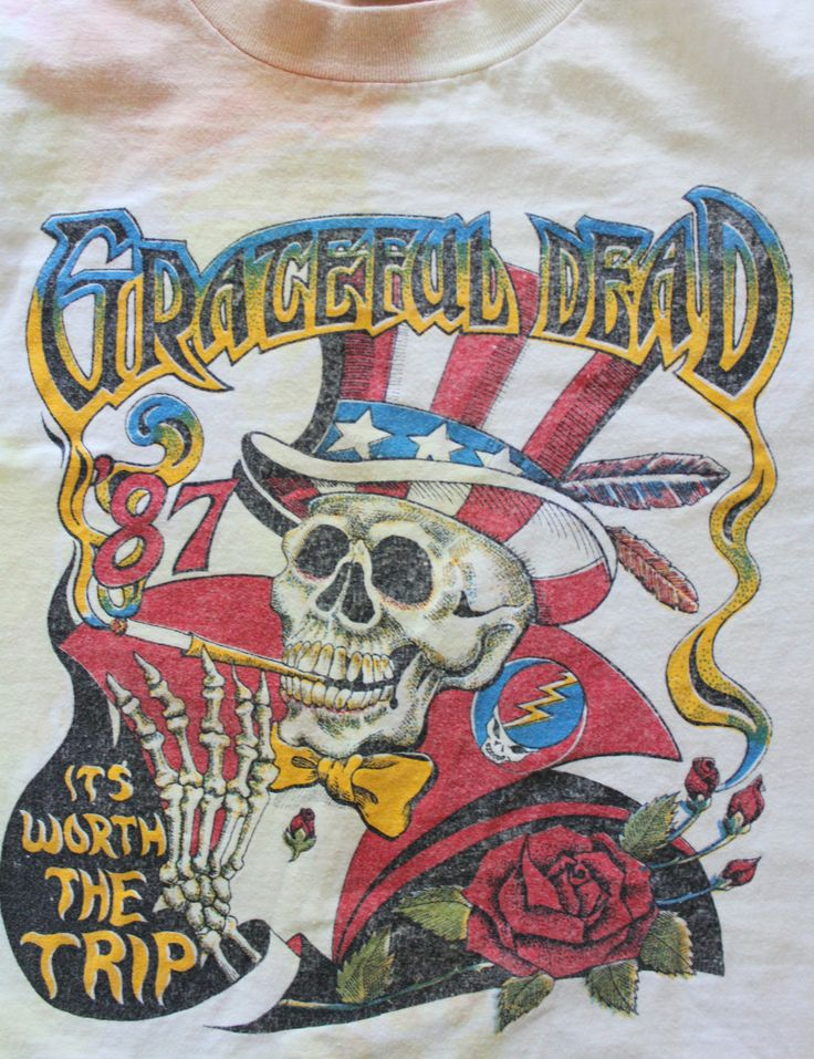 Vintage Grateful Dead and Bob Dylan Alone + Together Concert Tour Medium T-Shirt 1987 by WylieOwlVintage on Etsy