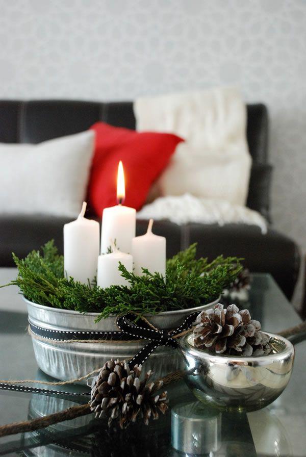 DIY advent candles. Nuestra alternativa a la corona de adviento - Casa Haus - Decoración
