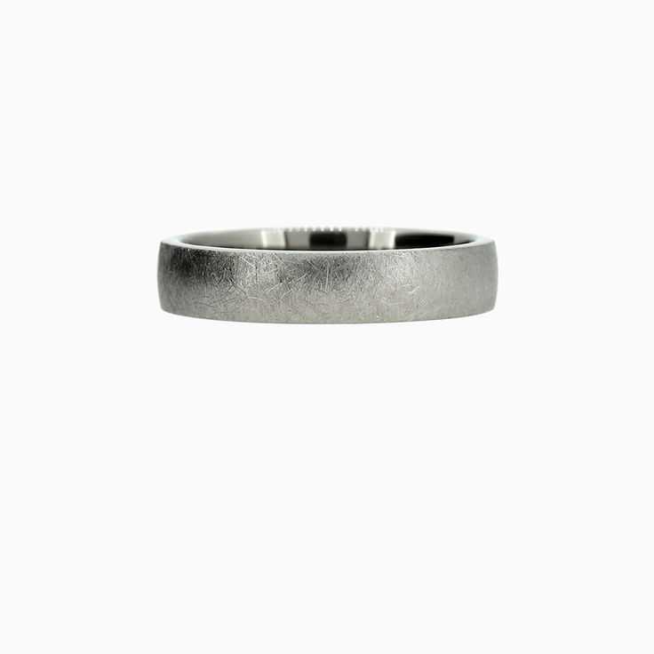 8mm Classic Wedding Band in scratched Titanium