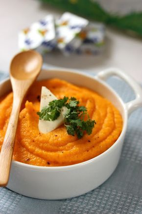 Purée gourmande à la patate douce, à la carotte et au Kiri | Les Kids de Sophie en Cuisine