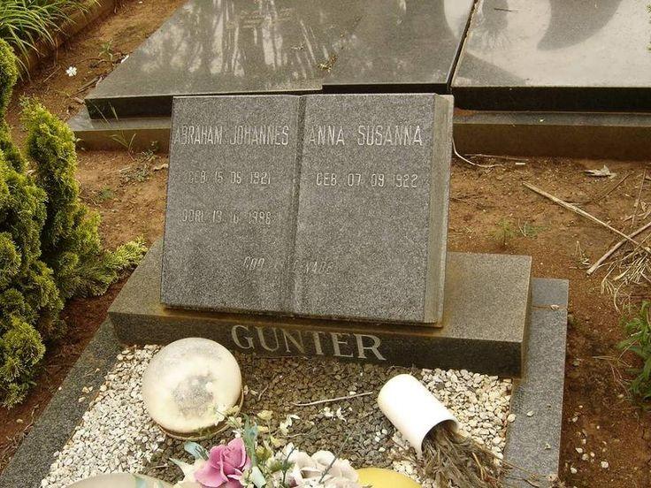 GUNTER Abraham Johannes 1921-1986 & Anna Susanna 1922- Kwazulu-Natal, PAULPIETERSBURG, Main cemetery