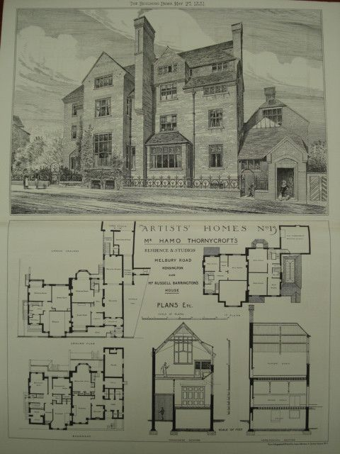 Fancy Residence and Studios of Hamo Thornycroft Kensington England UK Russell