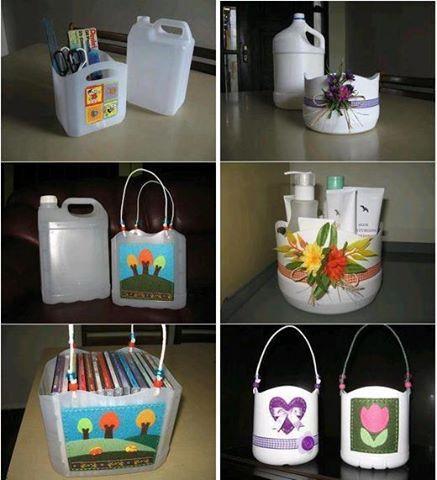 Riciclo...borse e contenitori, con i contenitori di plastica