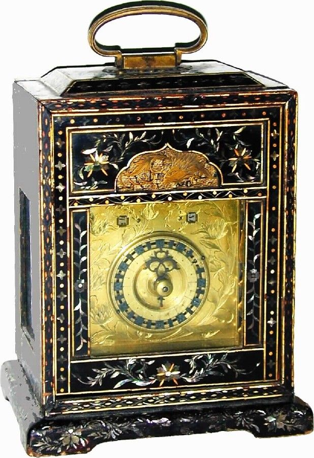 Mid 1800's, Japanese Bracket Clock.  Made before Japan adopted Western time keeping around 1873.