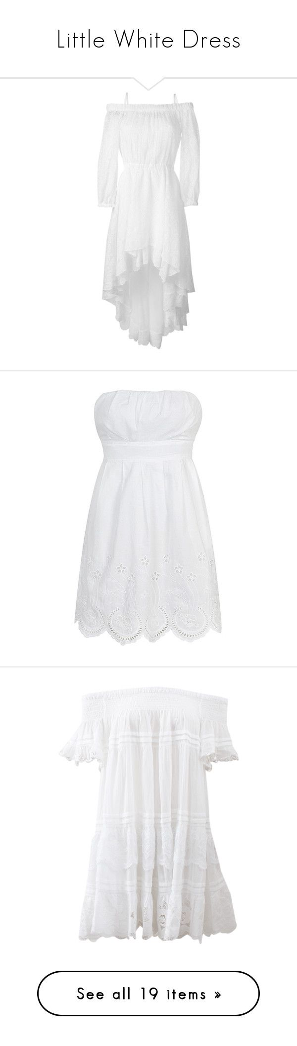 """""""Little White Dress"""" by whims-and-craze ❤ liked on Polyvore featuring dresses, white, mullet dress, white dress, white off the shoulder dress, off the shoulder lace dress, white off shoulder dress, vestidos, tops and vestiti"""