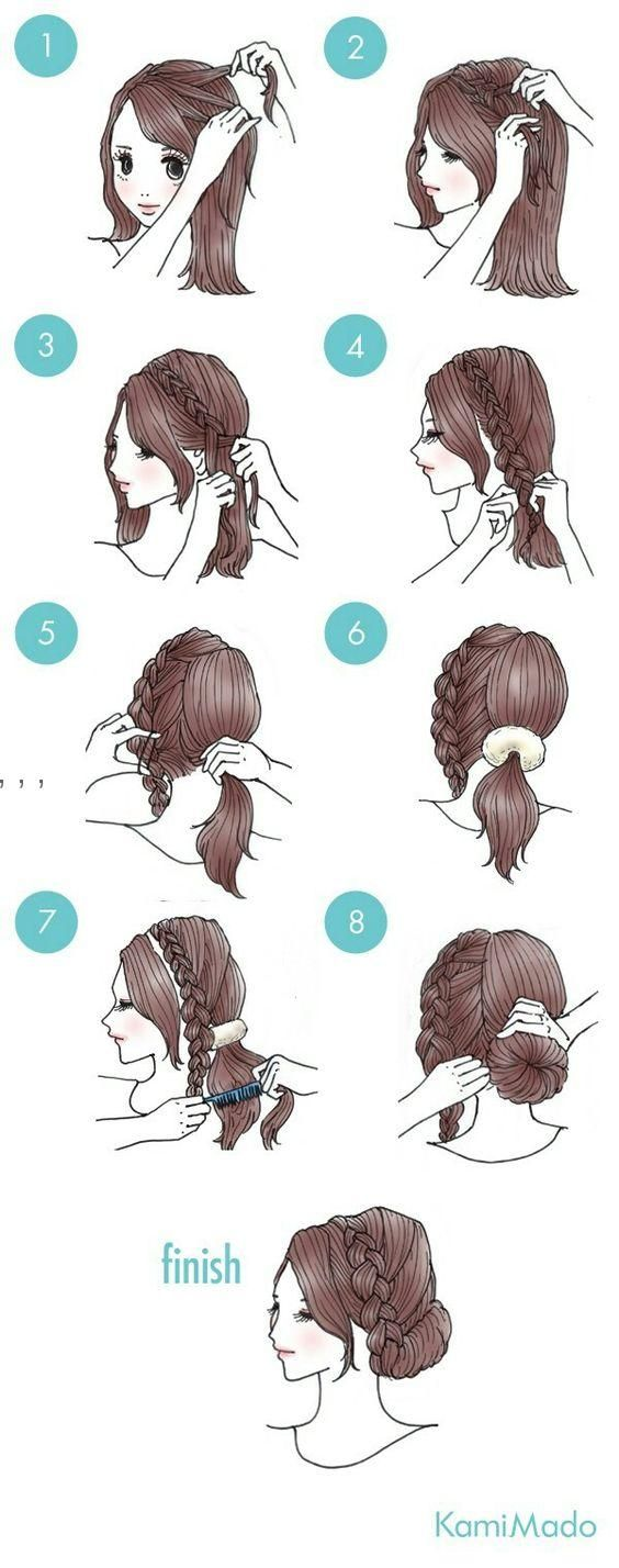 (Top Bun Tutorial) cabello corto