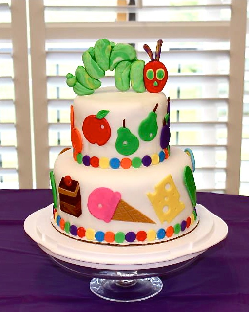 Very Hungry Caterpillar cake for my cousin's baby shower