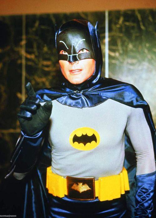 William West Anderson a.k.a Adam West in the Batman TV series on the ABC TV network and the 1966 Batman feature film.