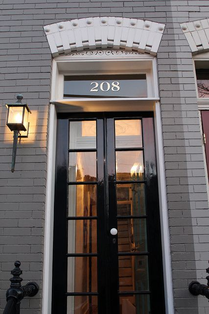 Gold leaf decal house numbers.  Great for a traditional home - us on transom window or window of traditional front door.