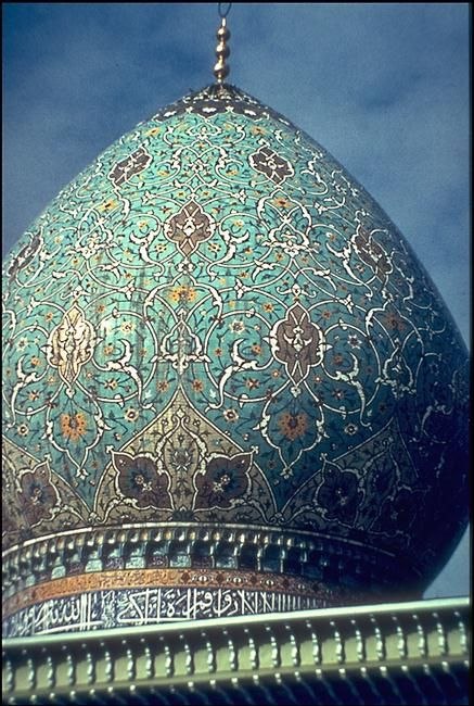 A dome of a mosque in Isfahan, Iran