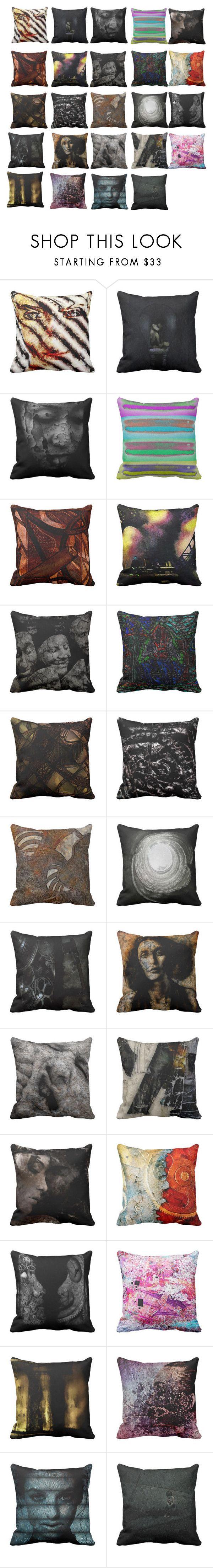 """Unique Pillow case designs"" by morrison-art on Polyvore featuring interior, interiors, interior design, home, home decor and interior decorating"