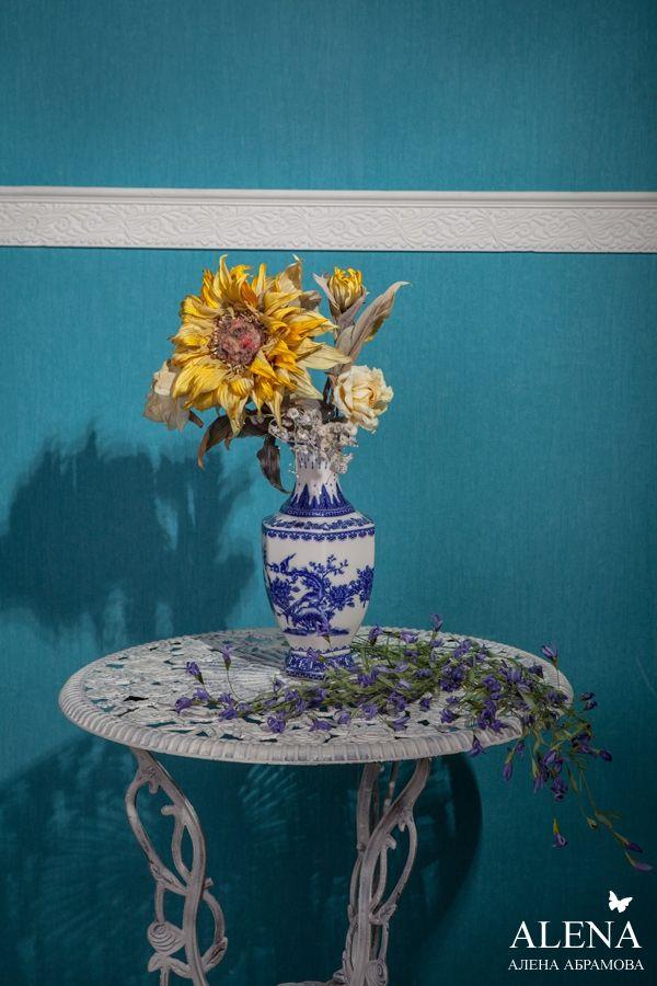 Цветы из ткани Алёны Абрамовой