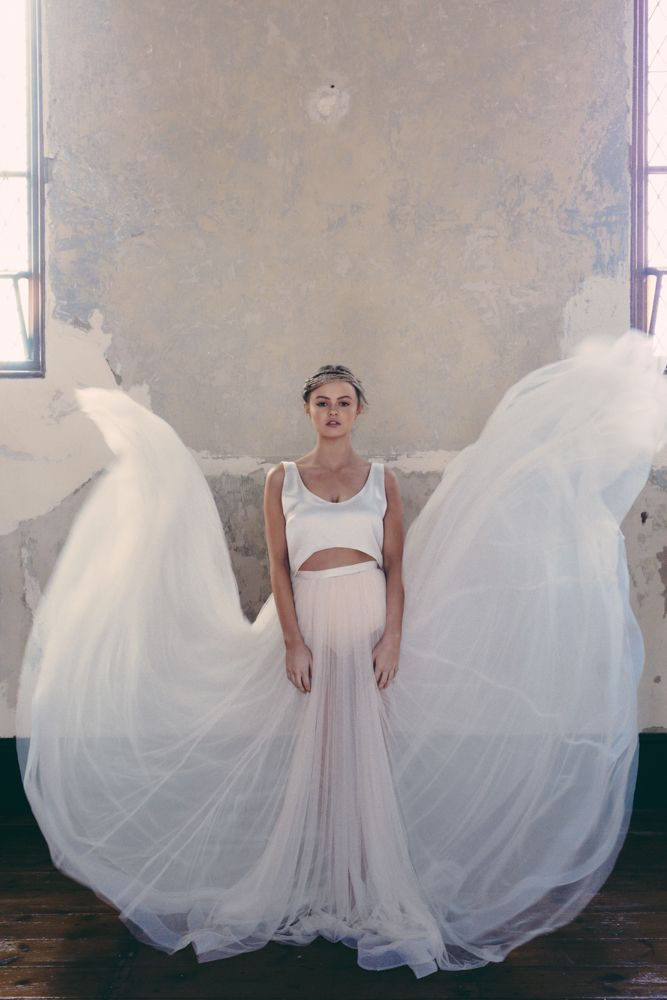 ONE DAY BRIDAL 'CURIOUS HEARTS' 'Marlow Crop' & 'Cleo' Skirt enquiries@loveoneday.com.au www.onedaybridal.com.au