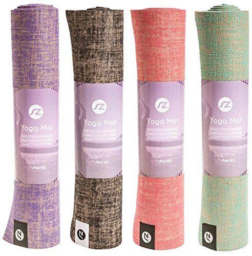 Premium Yoga Mat by Sternitz- Anti-Slip - Eco-friendly - with Carry Straps - 173cm Long, 61 cm Wide, 6mm Tickness. (Purple)