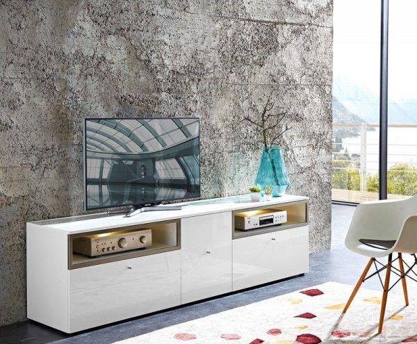 Commode TV design de coloris blanc