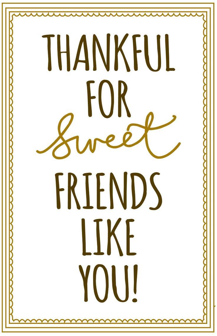 Thankful for sweet friends like you tags - also with Christmas, Thanksgiving,