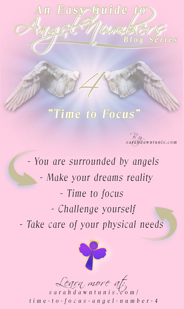 Angel Number 4: Time to Focus ~Do you keep seeing the Angel Number 4? If so, the angels are sending you a message of assistance. Keep reading to see what the angels want you to know.
