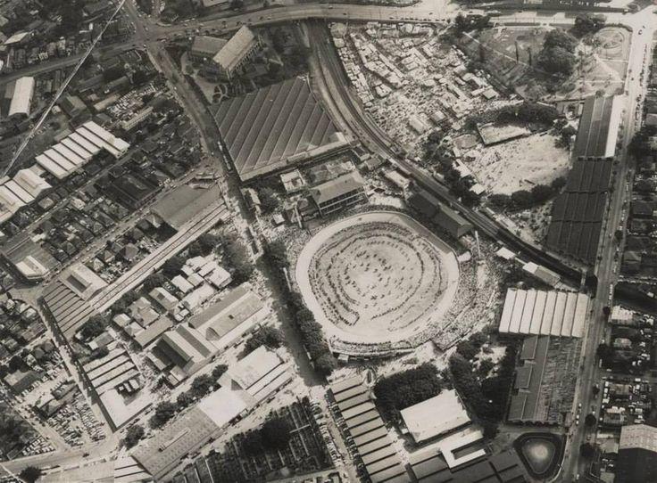 Aerial view of the Brisbane Exhibition Showground (EKKA ...