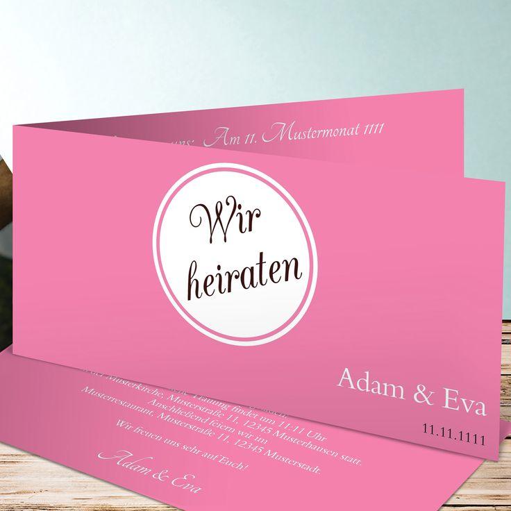 Ein Schönes Beispiel Für Günstige Einladungskarten: Diese Klappkarte Mit  Modernem Kreis Design Ist Schön