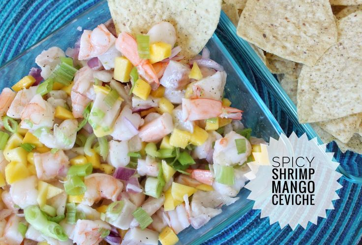 Spicy Shrimp Mango Ceviche :http://mydaydreamingworld.com/spicy-shrimp-mango-ceviche/