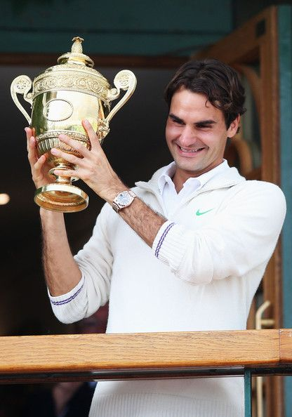 Roger Federer, No. 7!! RF born 08/08/81 so 8 Wimbledon's would be great!! would then be 18 GSs too!!! Definitely possible