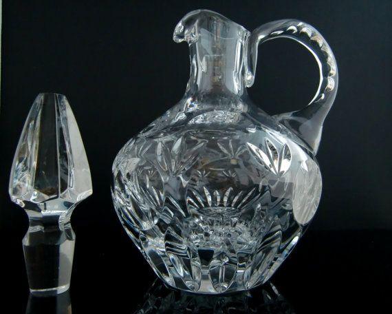 NACHTMANN 'Bamberg' Cut Lead Crystal Decanter // Diamond Cut Crystal Carafe // Mid Century German Barware