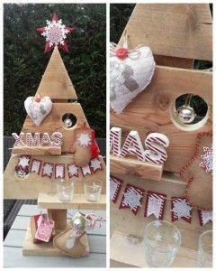 Workshop kerstboom decoraties maken. Incl. kerstboom van steigerhout. Meer informatie by Johnny Blue.