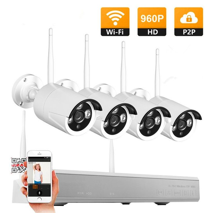 960P Wi-Fi security camera kit. Easily installed & setup to protect your home or business.