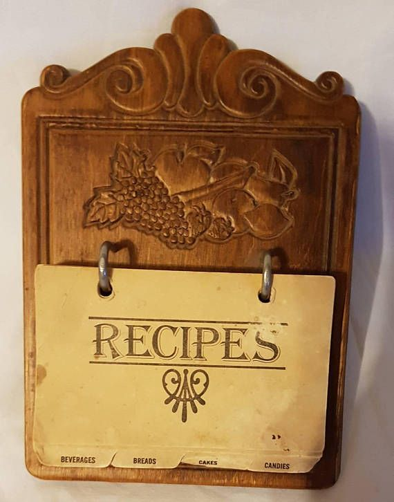 Check out this item in my Etsy shop https://www.etsy.com/ca/listing/574478650/vintage-carved-wooden-recipe-stand-with