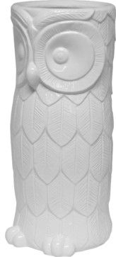 Hoot Umbrella Stand - White midcentury accessories and decor