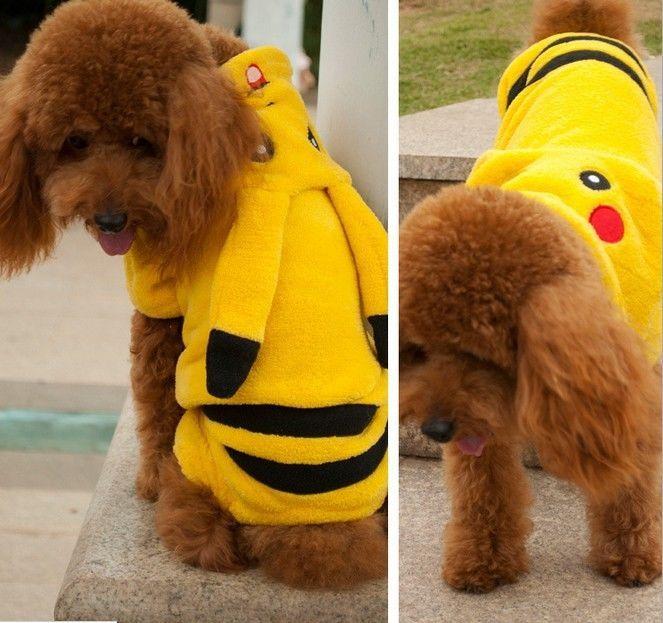 Hunde Mantel Pikachu Hundepullover Sports Hoodie Hundemantel Winter Kleidung GGG